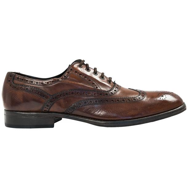 Mateo Dip Dyed Brown Moor Nappa Leather Oxfords thumb #4
