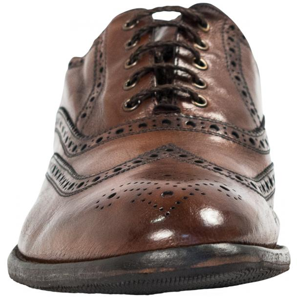 Mateo Dip Dyed Brown Moor Nappa Leather Oxfords full-size #3