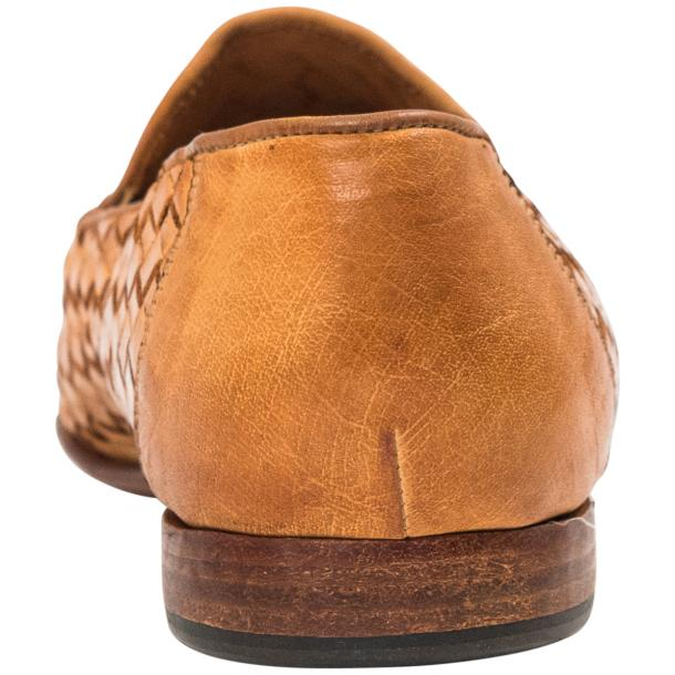Caesar Dip Dyed Brick Nappa Leather Hand Woven Slip Ons  thumb #5