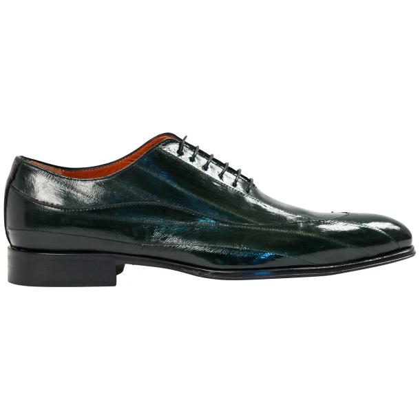 Dufresne Green Eel Skin Lace-Up Dress Shoes thumb #4