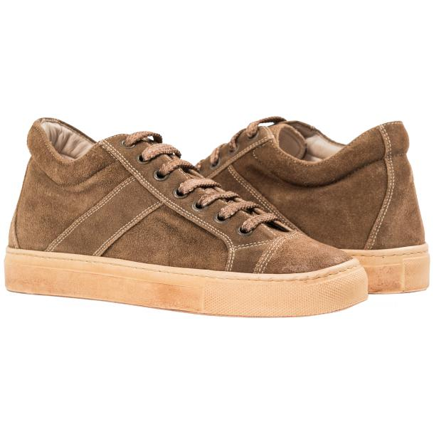 Hannah Suede Beige Dip Dyed Sneakers full-size #1