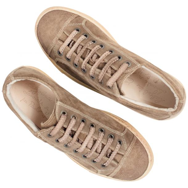 Hannah Suede Beige Dip Dyed Sneakers full-size #2
