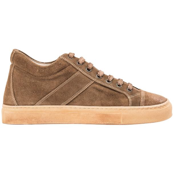 Hannah Suede Beige Dip Dyed Sneakers full-size #4