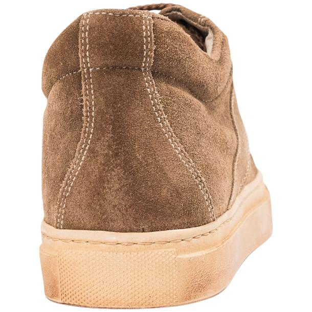 Hannah Suede Beige Dip Dyed Sneakers full-size #5