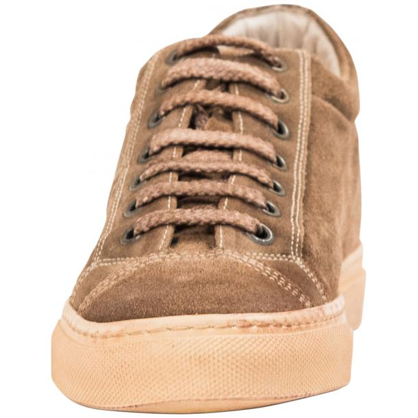 Hannah Suede Beige Dip Dyed Sneakers full-size #3