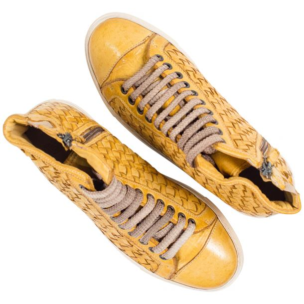 Abie Dip Dyed Mahogany Hand Woven High Top Sneaker  thumb #2