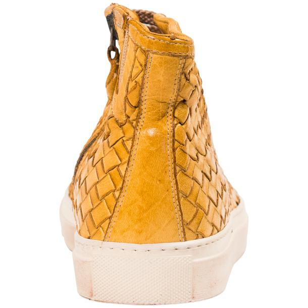 Abie Dip Dyed Mahogany Hand Woven High Top Sneaker  thumb #5
