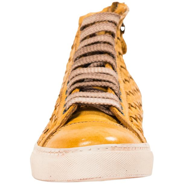 Abie Dip Dyed Mahogany Hand Woven High Top Sneaker  thumb #3