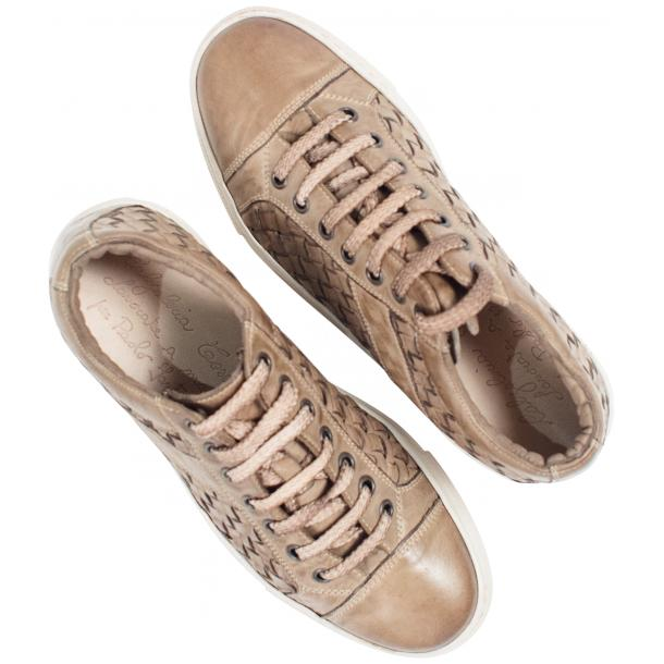 Destina Dip Dyed Beige Hand Woven Low Top Sneaker  thumb #2