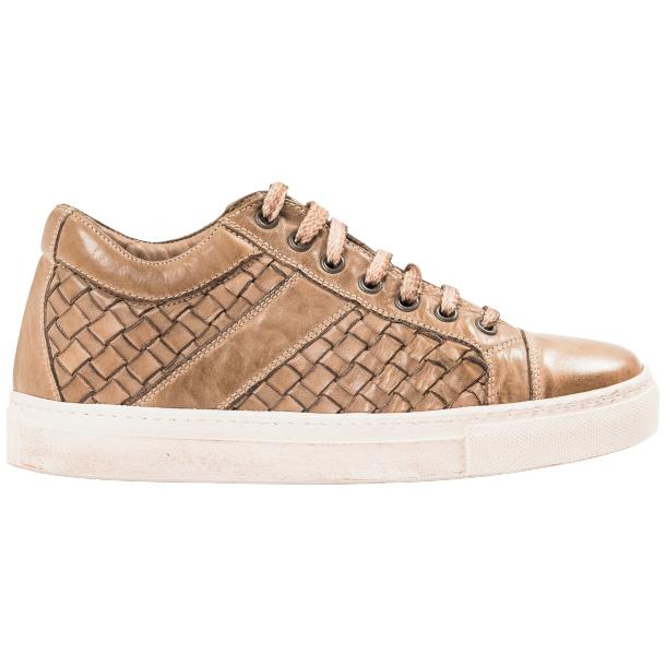 Destina Dip Dyed Beige Hand Woven Low Top Sneaker  thumb #4