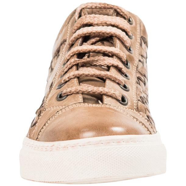 Destina Dip Dyed Beige Hand Woven Low Top Sneaker  thumb #3