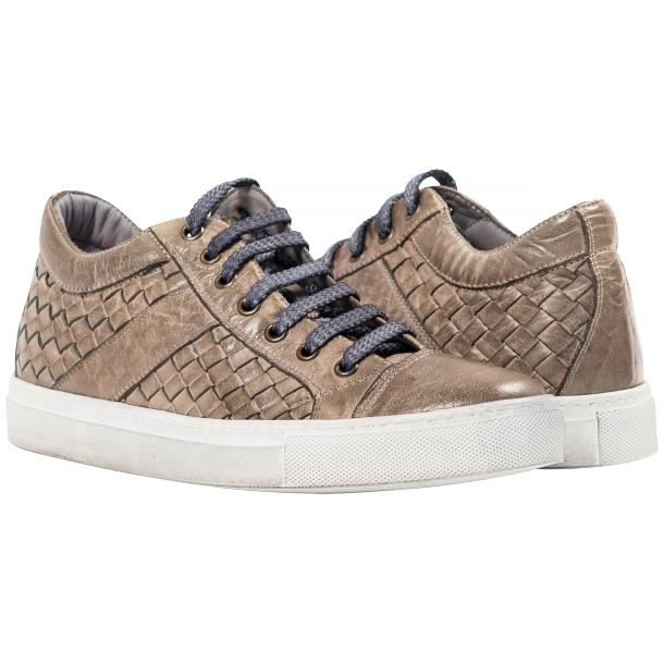 Destina Dip Dyed Grey Hand Woven Low Top Sneaker  full-size #1