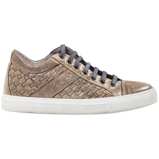 Destina Dip Dyed Grey Hand Woven Low Top Sneaker  thumb #4