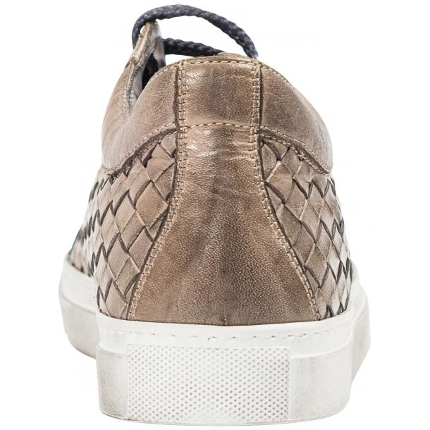 Destina Dip Dyed Grey Hand Woven Low Top Sneaker  thumb #5