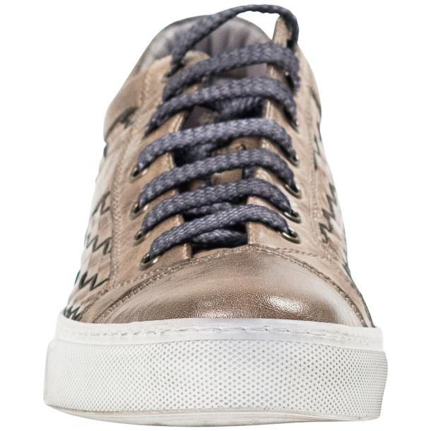 Destina Dip Dyed Grey Hand Woven Low Top Sneaker  thumb #3