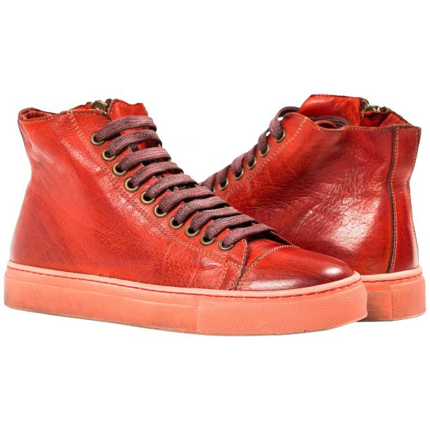 Fiona Dip Dyed Red High Top Sneaker full-size #1