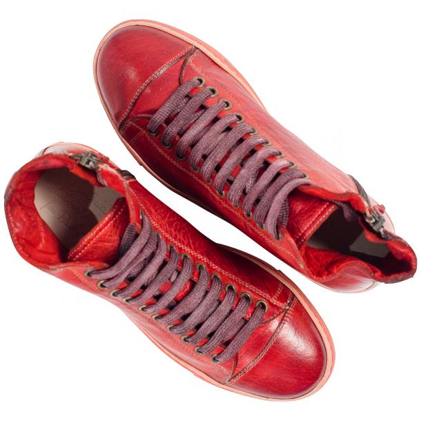 Fiona Dip Dyed Red High Top Sneaker thumb #2