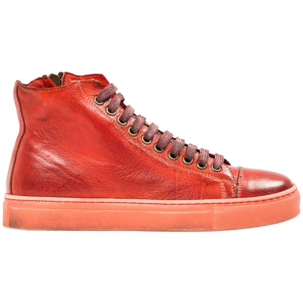 Fiona Dip Dyed Red High Top Sneaker full-size #4