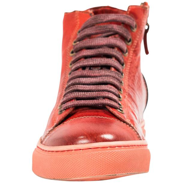 Fiona Dip Dyed Red High Top Sneaker full-size #3