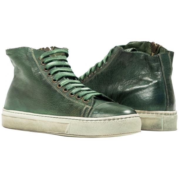 Heidi Dip Dyed Green High Top Sneaker  full-size #1