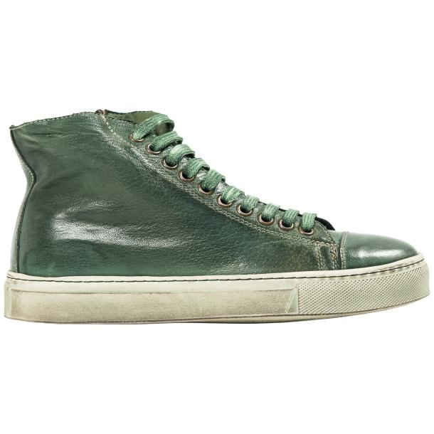 Fiona Dip Dyed Green High Top Sneaker  full-size #4