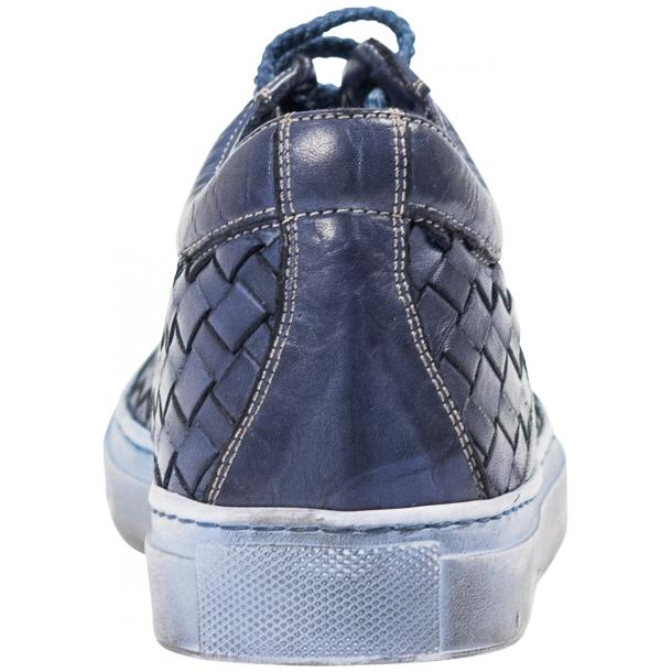 Destina Dip Dyed Blue Hand Woven Low Top Sneaker  thumb #5