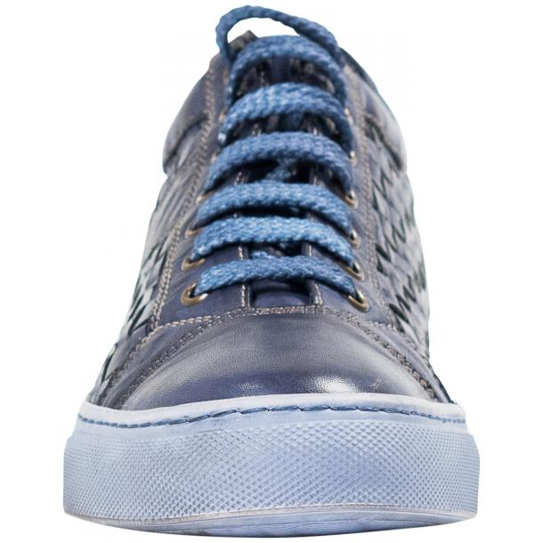 Destina Dip Dyed Blue Hand Woven Low Top Sneaker  thumb #3