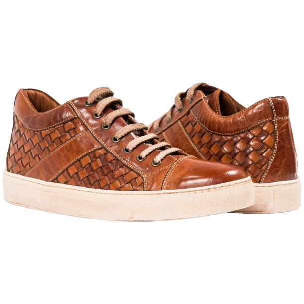 Veronica Dip Dyed Brick Hand Woven Low Top Sneaker  full-size #1