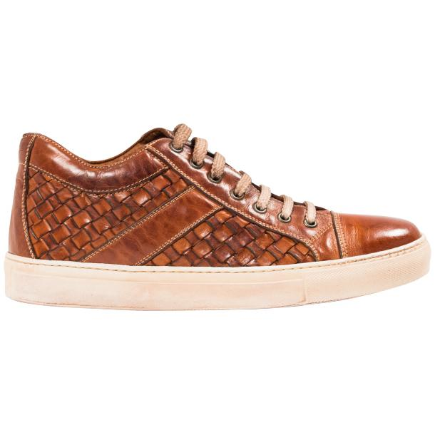 Veronica Dip Dyed Brick Hand Woven Low Top Sneaker  thumb #4