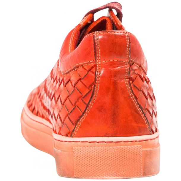 Veronica Dip Dyed Red Hand Woven Low Top Sneaker  thumb #5