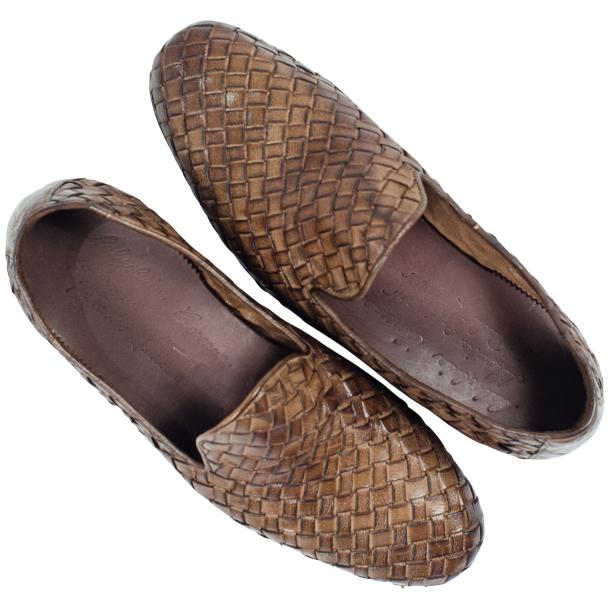Scott Dip Dyed Moor Nappa Leather Hand Woven Slip Ons  thumb #2