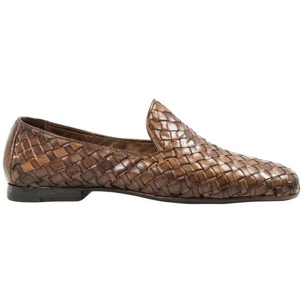 Scott Dip Dyed Moor Nappa Leather Hand Woven Slip Ons  thumb #4