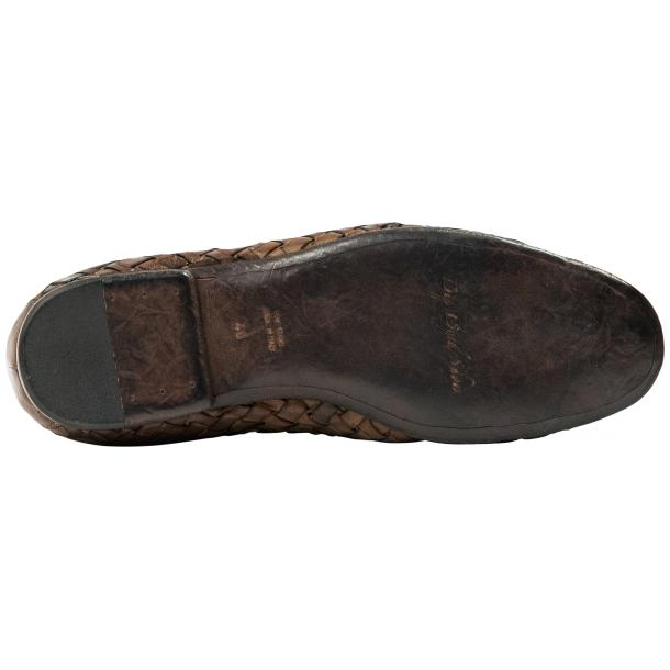 Scott Dip Dyed Moor Nappa Leather Hand Woven Slip Ons  thumb #6