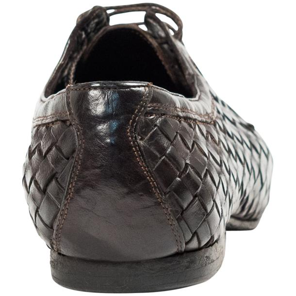 Kirk Dark Brown Dip Dyed Nappa Leather Hand Woven Lace up thumb #5