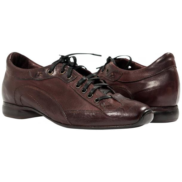 Turner Oxblood Dip Dyed Leather Sole Sneakers full-size #1