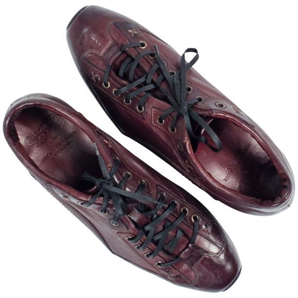 Turner Oxblood Dip Dyed Leather Sole Sneakers thumb #2