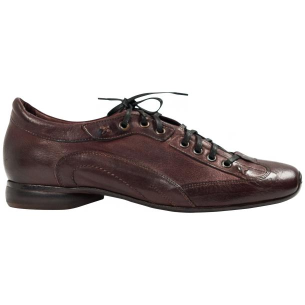 Turner Oxblood Dip Dyed Leather Sole Sneakers thumb #4