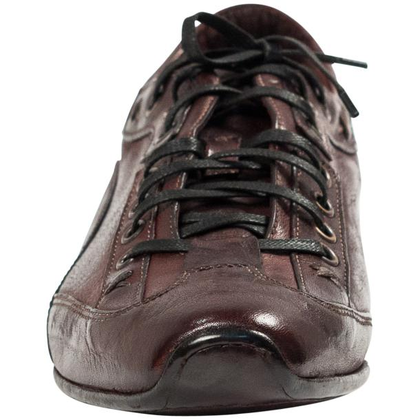 Turner Oxblood Dip Dyed Leather Sole Sneakers thumb #3