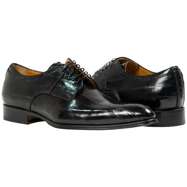 "Craig Black ""Nero"" Eel Skin  Laced up Dress Shoes thumb #1"