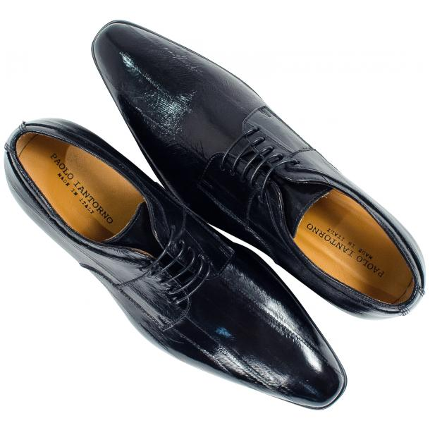 "Craig Black ""Nero"" Eel Skin  Laced up Dress Shoes thumb #2"
