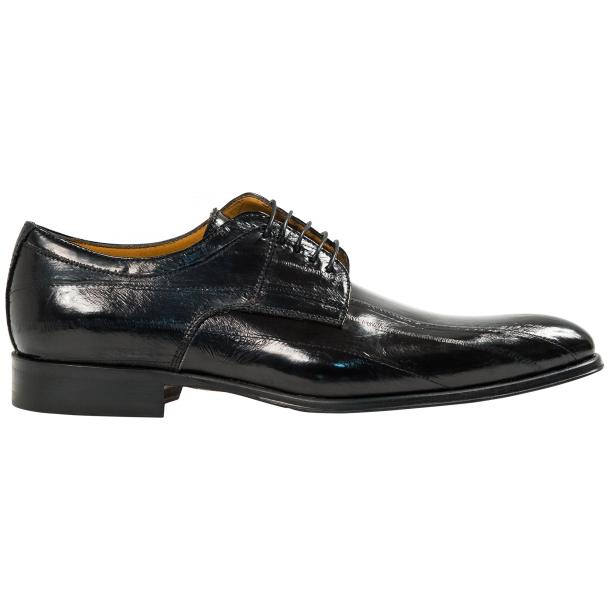 "Craig Black ""Nero"" Eel Skin  Laced up Dress Shoes thumb #4"