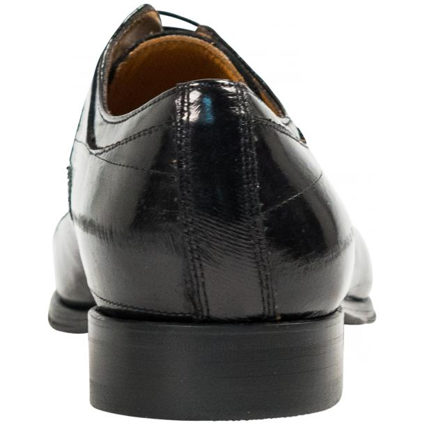 "Craig Black ""Nero"" Eel Skin  Laced up Dress Shoes thumb #5"