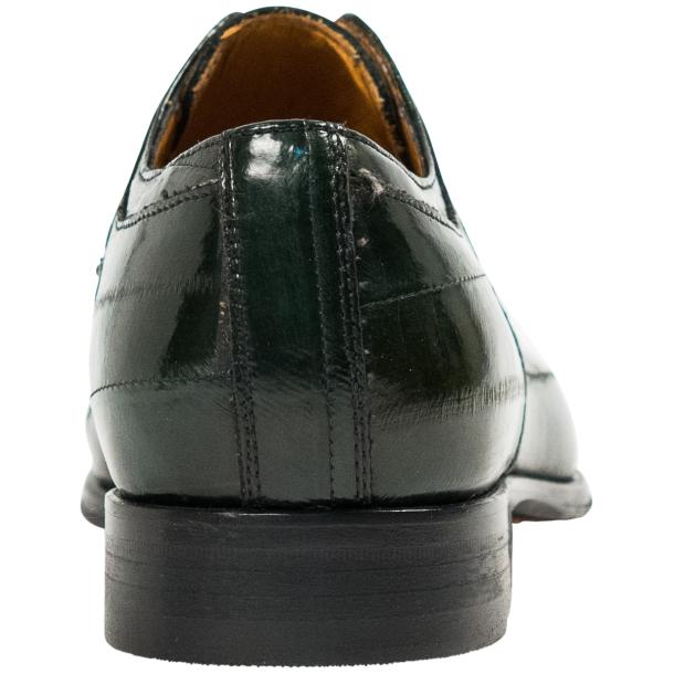 "Craig Dark Green ""Verde""  Eel Skin  Laced up Dress Shoes thumb #5"