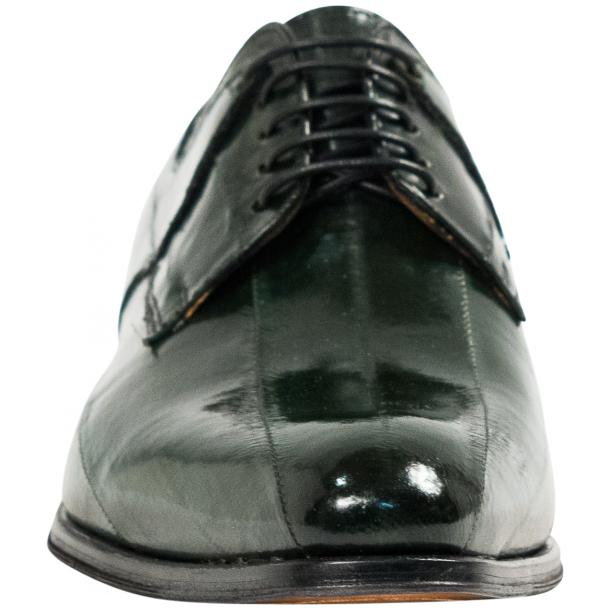 "Craig Dark Green ""Verde""  Eel Skin  Laced up Dress Shoes thumb #3"