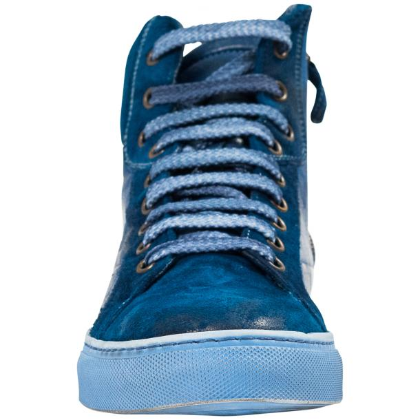Angelique Dip Dyed Indigo Nappa Leather and Suede High Top Sneaker thumb #3