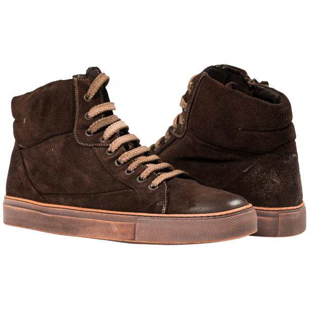 Sofie Dip Dyed Chocolate Brown Suede High Top Sneaker full-size #1