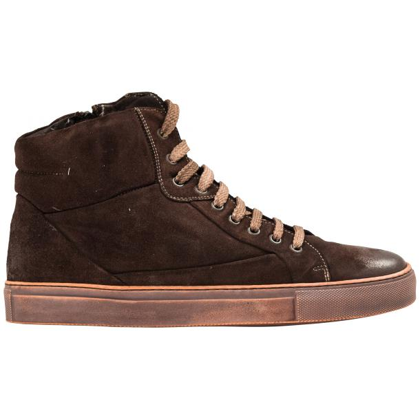 Sofie Dip Dyed Chocolate Brown Suede High Top Sneaker thumb #4