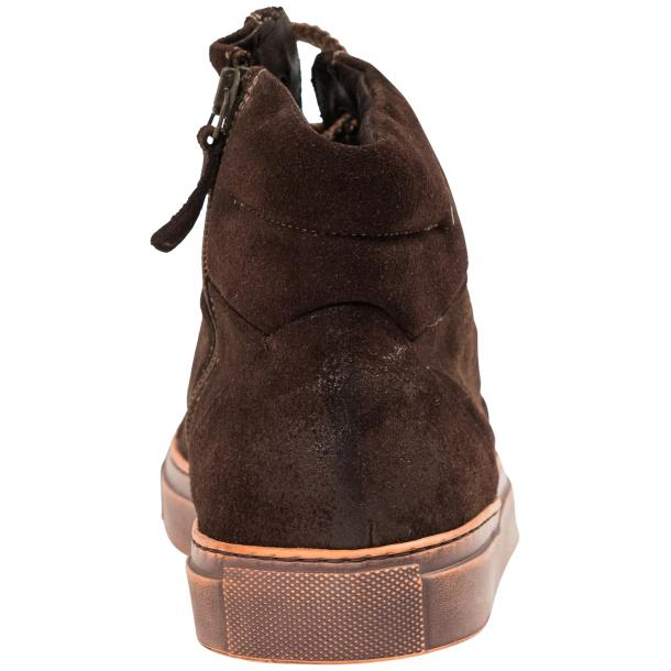 Sofie Dip Dyed Chocolate Brown Suede High Top Sneaker thumb #5