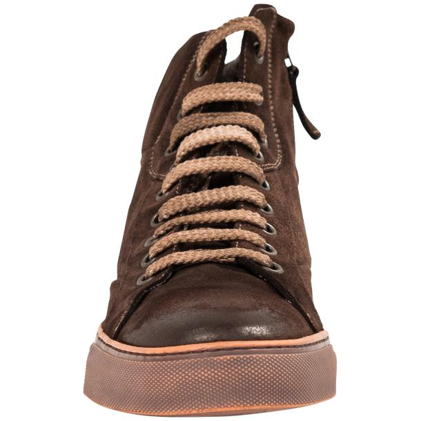 Sofie Dip Dyed Chocolate Brown Suede High Top Sneaker thumb #3