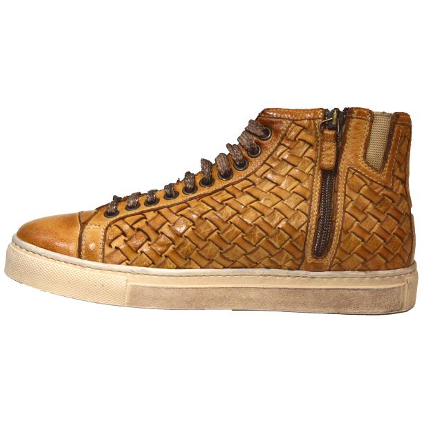 Abie Dip Dyed Brick Hand Woven High Top Sneaker  thumb #5